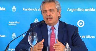 """Presidente Alberto Fernández: """"Vamos a prolongar la cuarentena hasta el fin de la Semana Santa"""""""