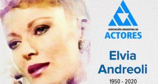 Falleció la actriz Elvia Andreoli