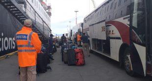 Gobierno fueguino coordina el regreso de Turistas a sus paises desde el Puerto de Ushuaia