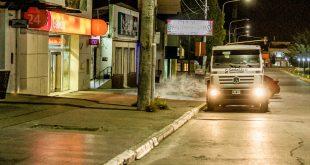 Continúan las desinfecciones masivas en distintos puntos de la Ciudad de Rio Grande