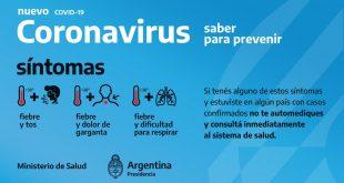 Reporte Diario Covid-19 en Argentina: Hay 74 nuevos casos confirmados y son 1628 positivos