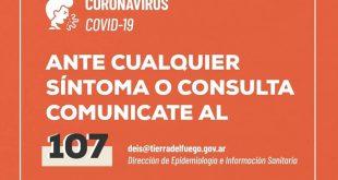 Reporte Diario Covid-19 – 30 de Mayo: Un día más sin registro de nuevos casos en Tierra del Fuego