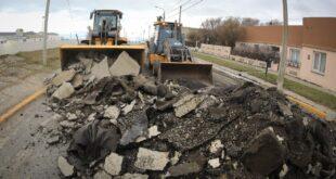Repavimentación de calle Thorne: comenzó el movimiento de suelo desde Ameghino hasta Avda.San Martín
