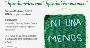 """""""Tejiendo redes con Tejiendo Feminismos"""": Victoria Paz Zapata y Daniela Zapata participarán en charla virtual"""