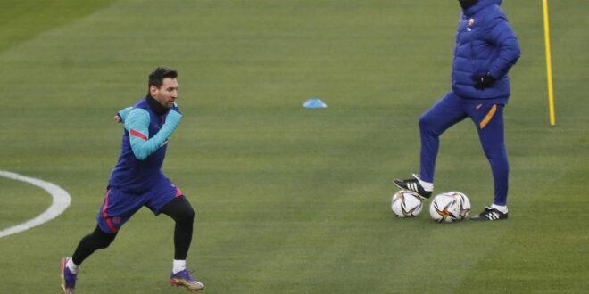 Messi se entrenó luego de la sanción