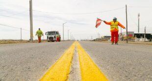 Comenzaron los trabajos de demarcación horizontal sobre la ruta Nacional N° 3